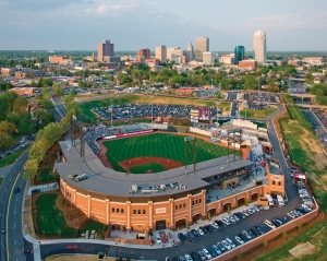 Winston-Salem BB&T Ballpark Skyline